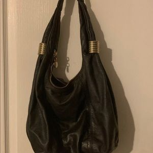 Sam Edelman Leather Tote - Dark Gray